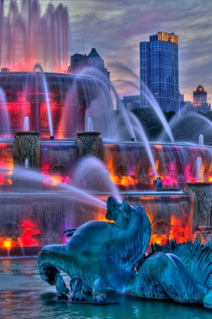 Summer Begins at the Fountain
