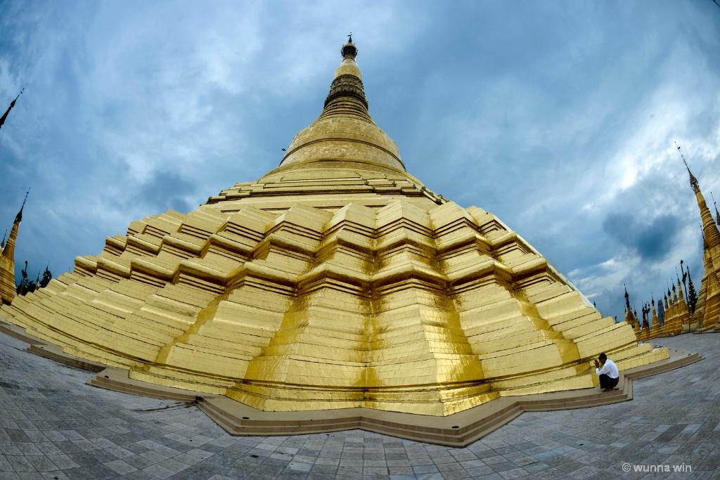 upper terrace of Shwedagon pagoda