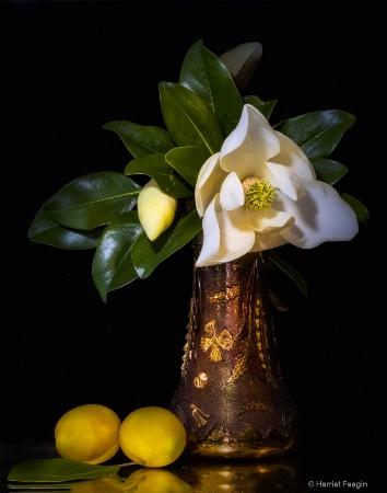 Grandmother's Vase With Magnolia