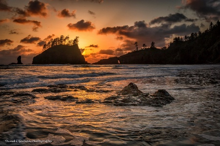 Sunset along the Olympic Coast