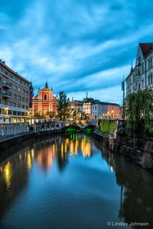 Ljubljana at Twilight