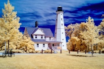 North Point Lighthouse in IR Color