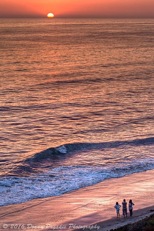 Three at Sunset