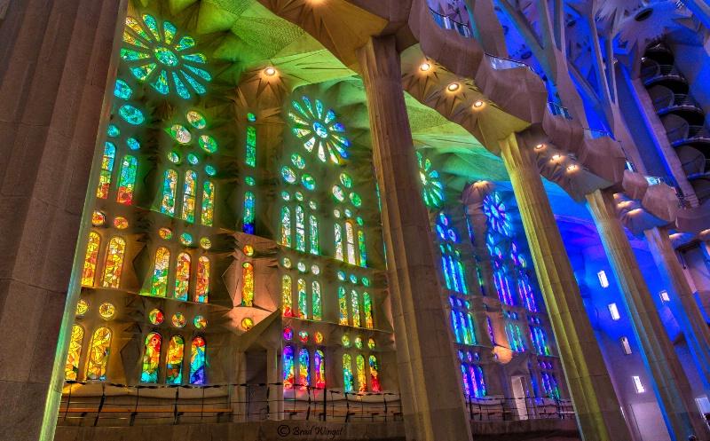 Barcelona La Sagrada Familia glass