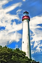 Artistic Lighthouse-Cape May