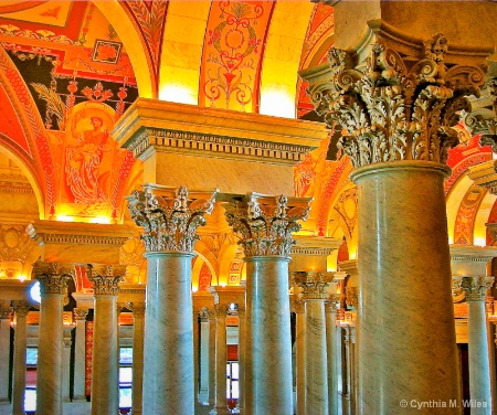 Pillars in the Library of Congress