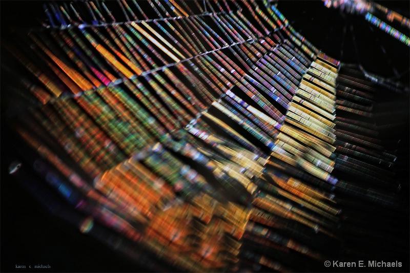 light hits web in tree - ID: 15197629 © Karen E. Michaels