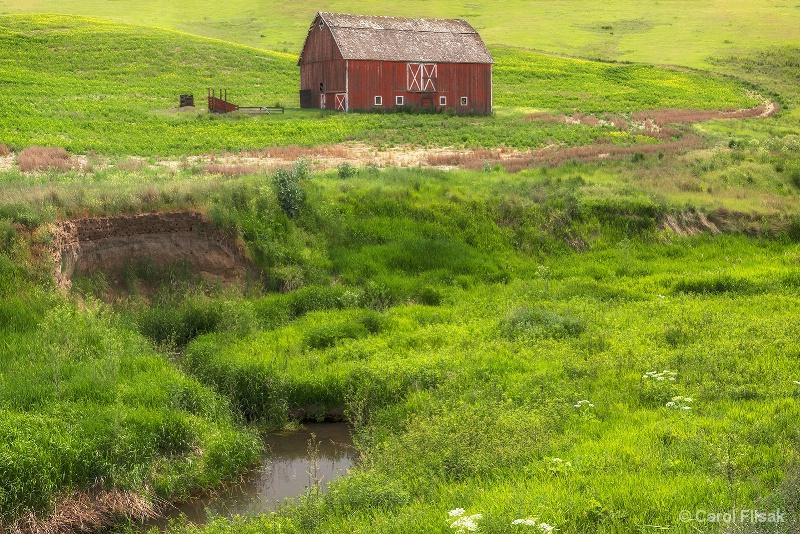 Red Barn in the Palouse - ID: 15227746 © Carol Flisak