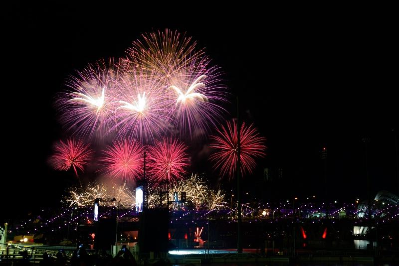 F1 firework, Singapore