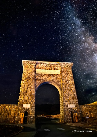 Roosevelt Arch at Night