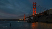 Golden Gate Before Dawn