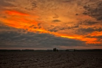 Dramatic Sky Over The Fields