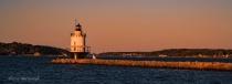 Springe Ledge Lighthouse - at dusk. Portland,Maine