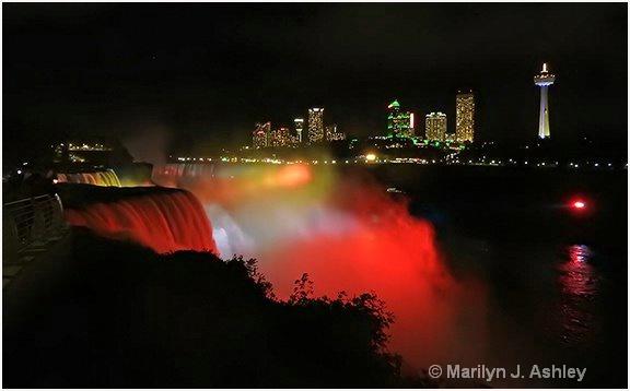 Niagara Falls At Night - ID: 15254712 © Marilyn J. Ashley