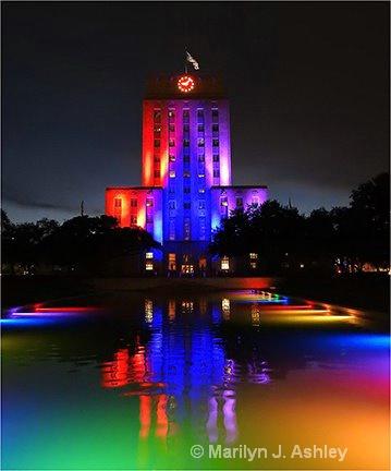 Houston-City Hall Lights 2.JPG - ID: 15254800 © Marilyn J. Ashley