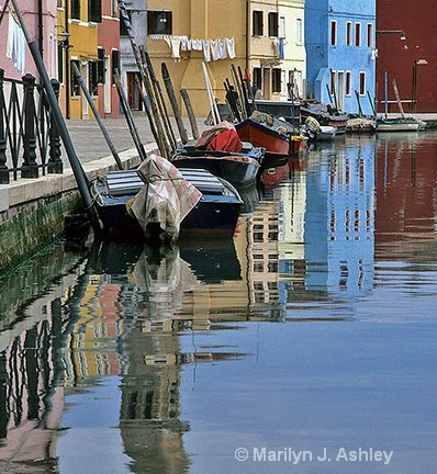 Burano Reflections - ID: 15255350 © Marilyn J. Ashley