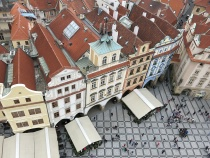 Praga square from the clock tower