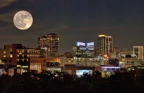 Supermoon Night Lights of Fort Worth