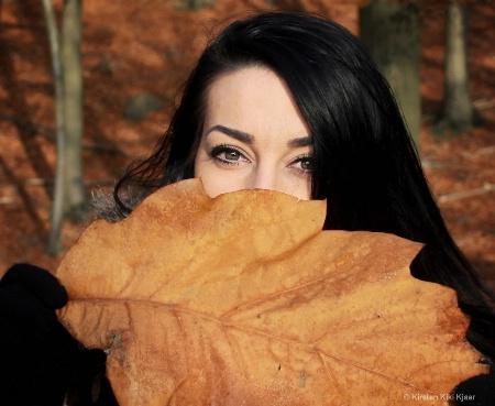 Hiding Behind A Big Leaf