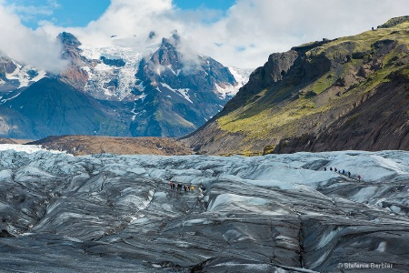 A stroll on a glacier