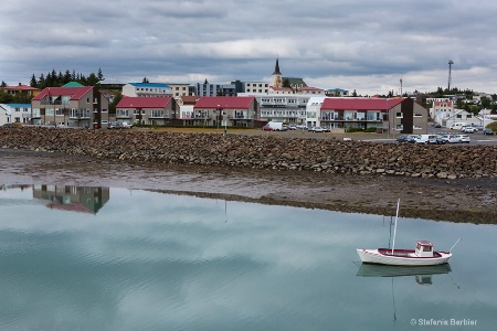 little fishing town in Iceland