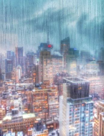 Downpour Over Midtown Manhattan