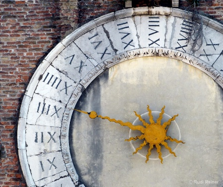 Old clock arm, Venice