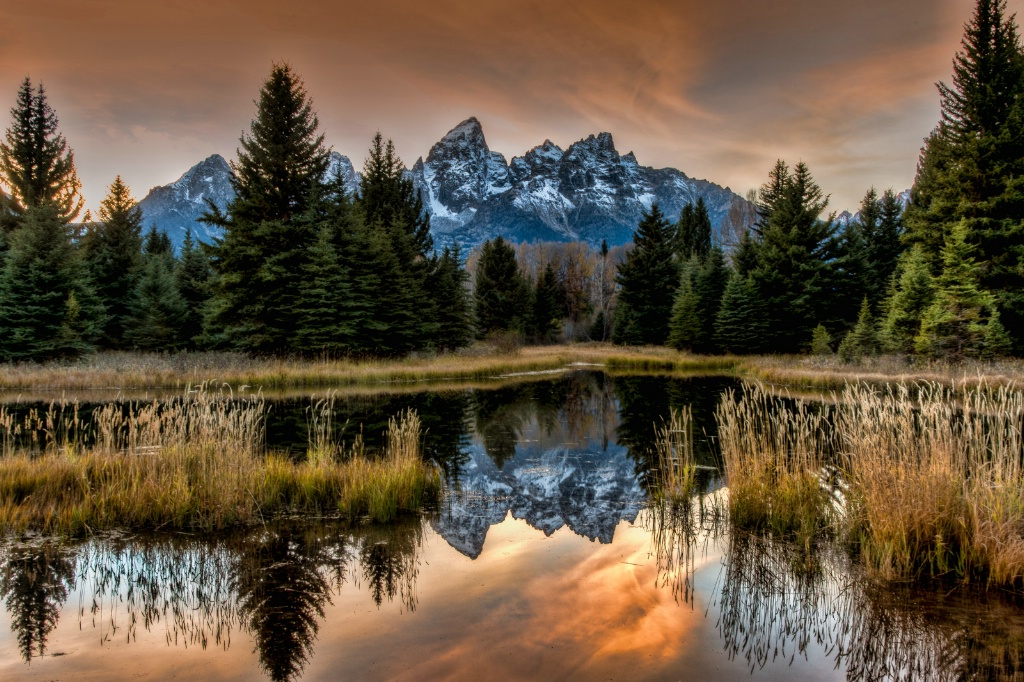 Teton Sunset - ID: 15290585 © Jim E. Anderson