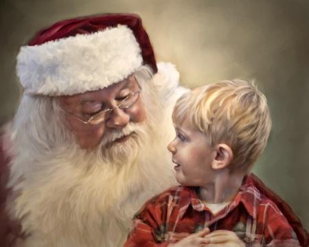 Bryce and Santa