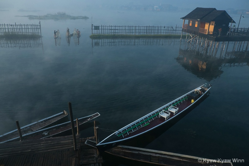 Morning of Inle Lake