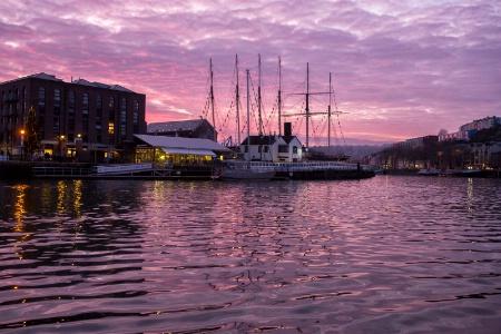 Sunset Over Baltic Wharf