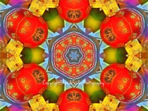~Chinese Lantern Abstract~