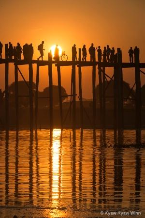 Sunset at U Bain Bridge
