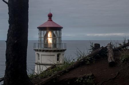 The light at Heceta Head lighthouse