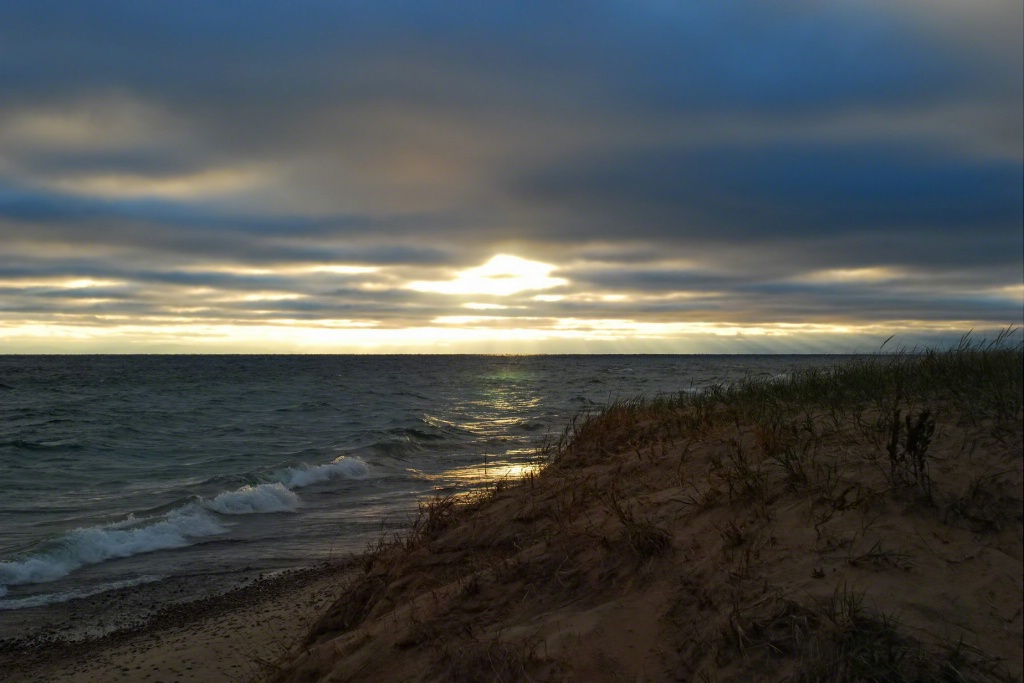 Daybreak over Whitefish Bay
