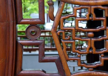 Entrance wood art