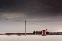 Milk Shelter Under The Dramatic Sky