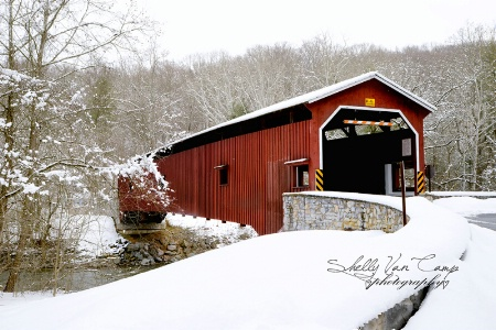 Covered Bridge in the snow