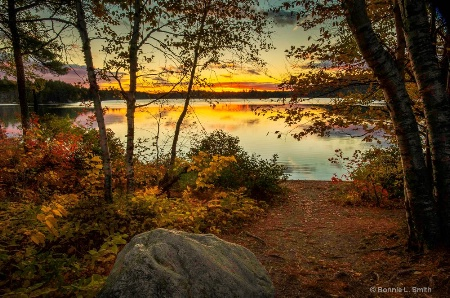 Fall Sunrise on Togue Pond