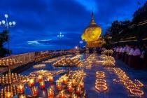 Kyaiktiyoe Pagoda Candle Light Festival