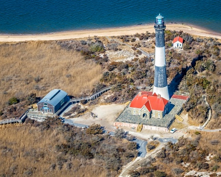 Above Fire Island Lighthouse  1594