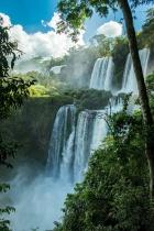 Multiple Levels of Iguazu Falls - Argentina