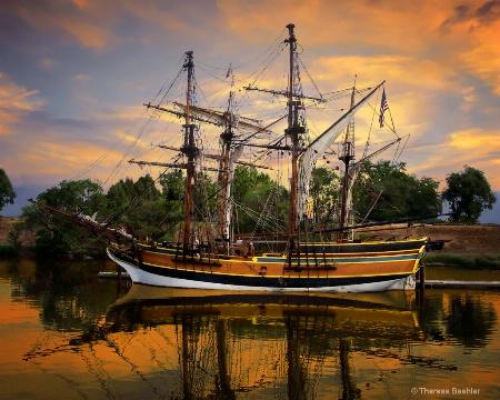 Burst of Sunrise - Lady Washington Tall Ship