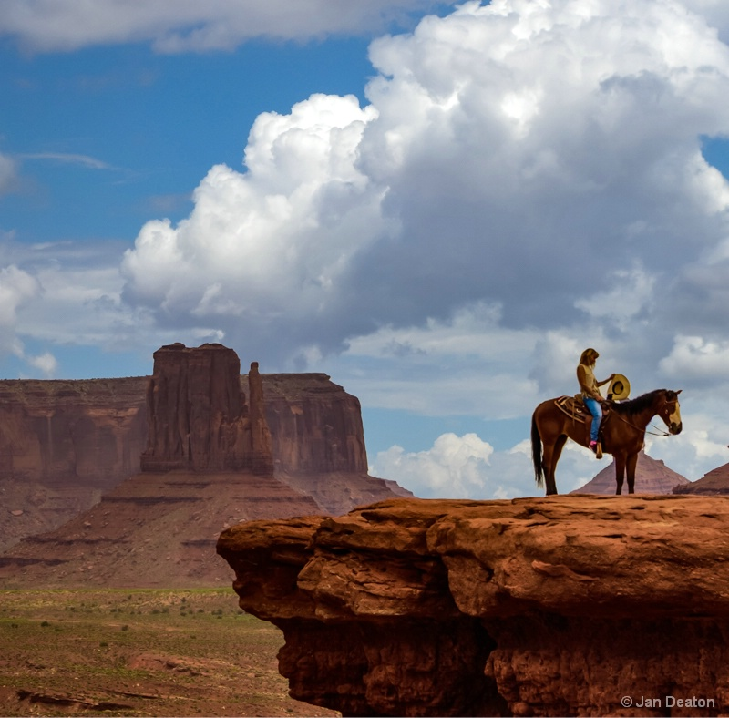 Cowgirl in Monument Valley