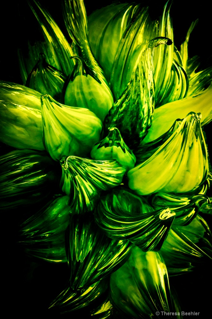 Green Glasswork - by Chihuly