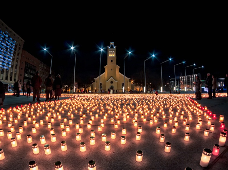 Candles On The Freedom Square