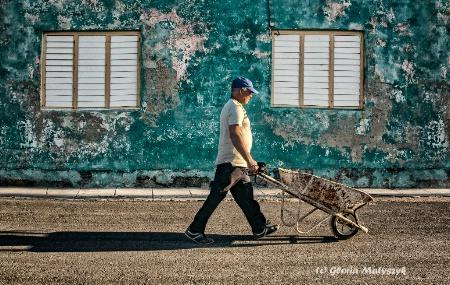 On the way to work. Cojimar, Havana, Cuba