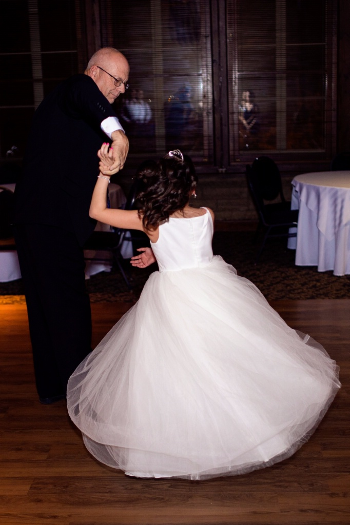 Dance with her grandpa