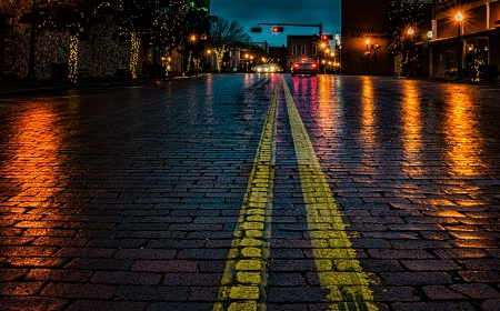 Brick Streets of Nacogdoches, TX.