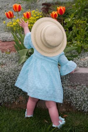 Easter Bonnet in the Garden